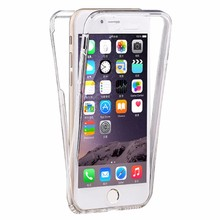Ultra Thin 360 Degree front+mobile back cover transparent tpu case Phone case for iphone 7