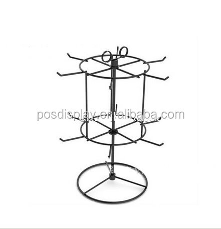 Double layer earring accessories metal rack / counter top display rack