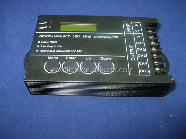 time programmable led controller TC420;5Channel Total Output 20A Common Anode Programmable LED Time Controller