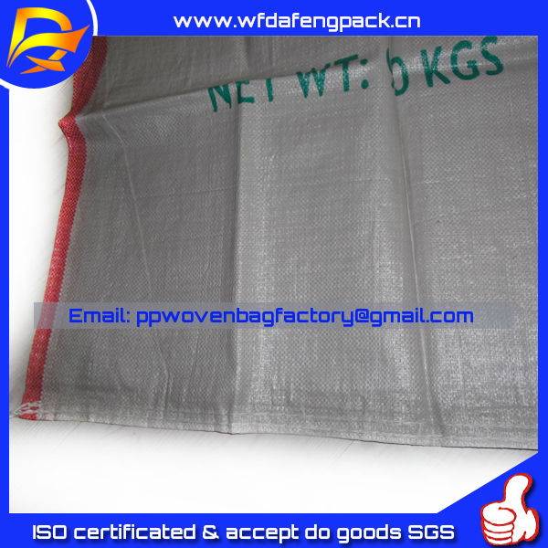 recycled material made dark white color Woven pp bags sale in South Africa for corn peanuts packing