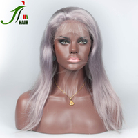Wholesale Good Quality Full Lace Wig All Grey Straight Color Front Lace Human Hair Wig