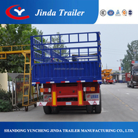 Common 3 axis High Wall Rail Fence Trailer road tractors for semi trailers