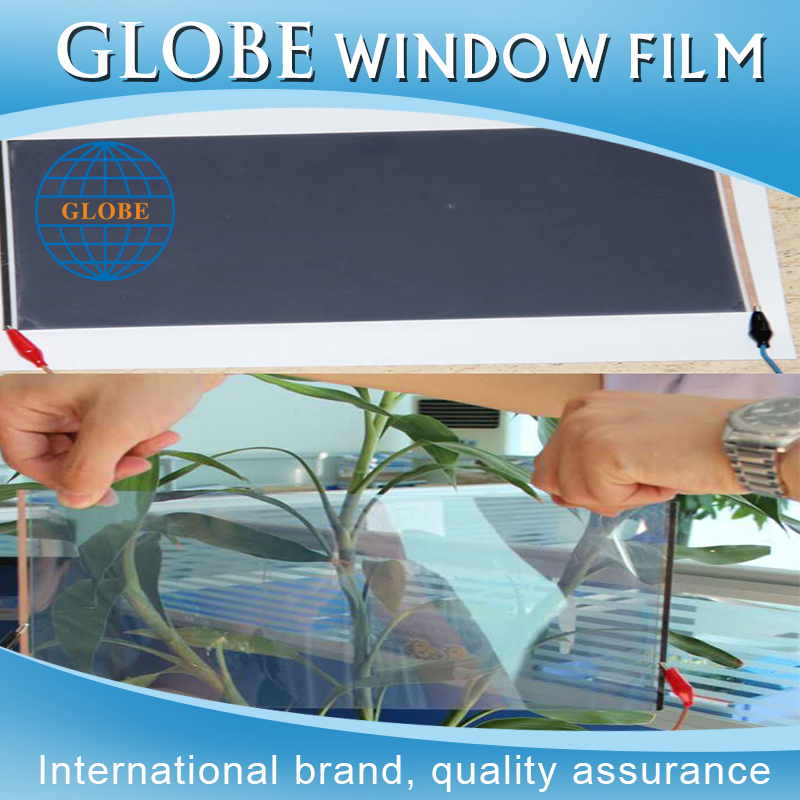 Globe Factory direct sale tempered electrostatic smart switchable privacy glass film