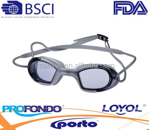 New design of one-piece silicone swimming goggles with ultra comfort