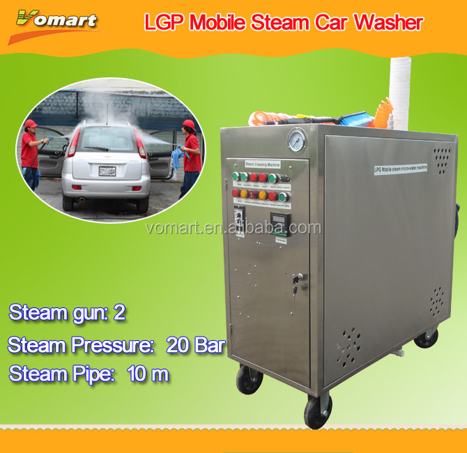 CE 20 bar steam car washing service/steam mist system
