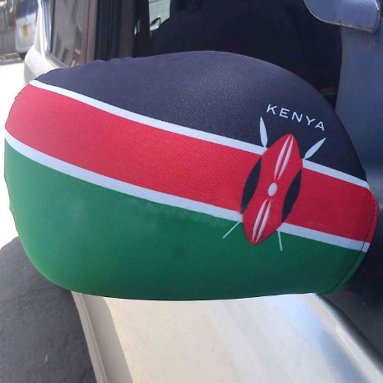 Custom fan car side mirror cover