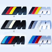 3D car logo ///M Metal badge car sticker