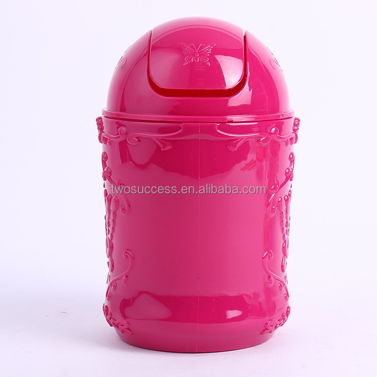 Wholesale High Quality Fancy Mini Car household Toy Plastic Garbage Can