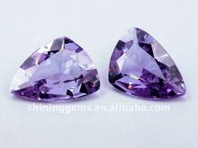 magic beauty purple triangle cubic zirconia gemstone