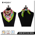 Ladies' Twill Silk Scarf Malaysia Fashion Pattern Print New Style Silk Scarf