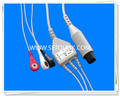 Generic AAMI 6 Pin One Piece ECG Cable Manufacture in ShenZhen