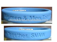 the silicone wristband