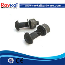 lower price M16 Sets of Torshear type high strength bolts,nut and plain washer for structures Made in china