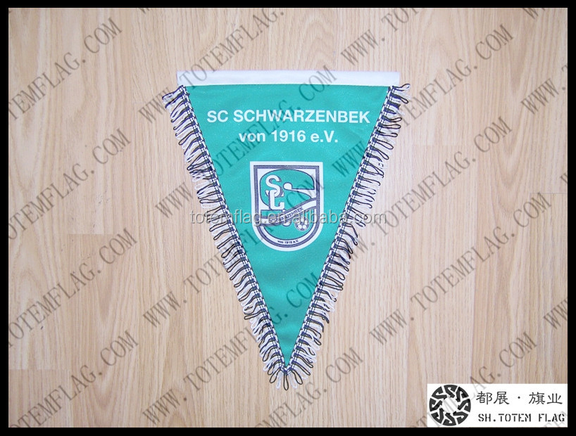 High quality football club pennant flag