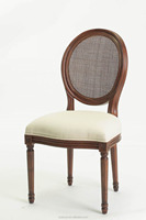 Round back classic fabric armless dining chair/Modern side fabric chair