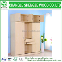cheap wooden wardrobe cabinet factory dIrect sale