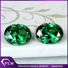 Top quality oval emerald synthetic cubic zirconia
