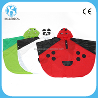 Children cute pvc rain poncho with custom designs