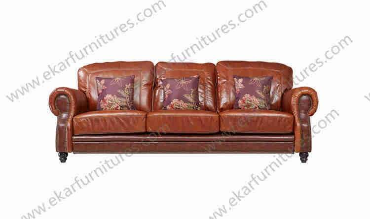 Turkish Living Room Used Recliner Genuine Brown Happy Cheers Leather Sofa Set Furniture