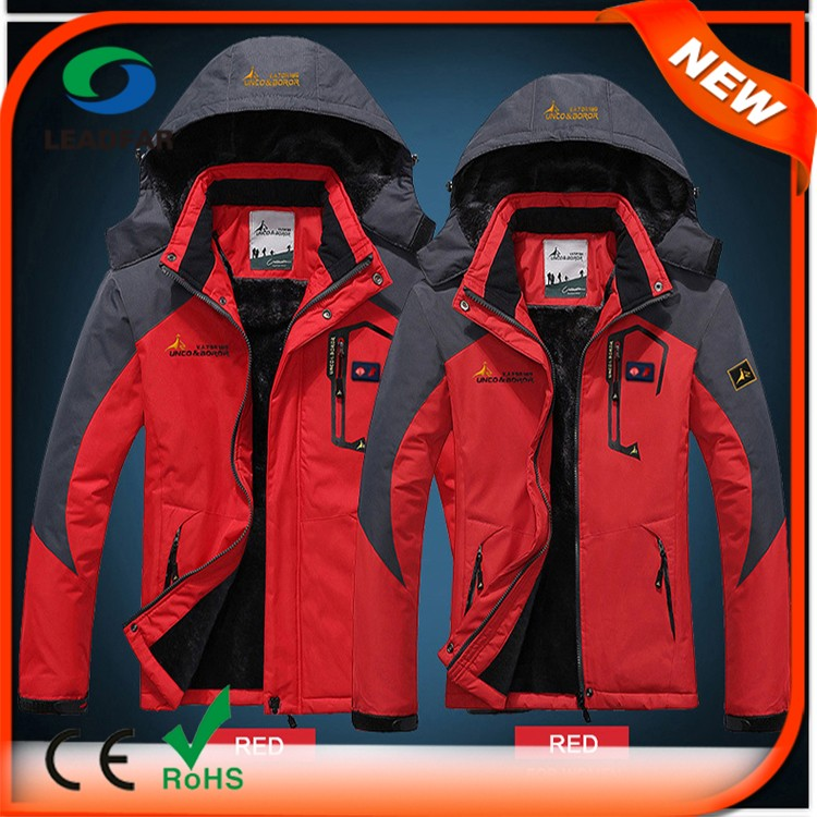 100% Polyester Fashion Colorful Heated Snowboard Jackets
