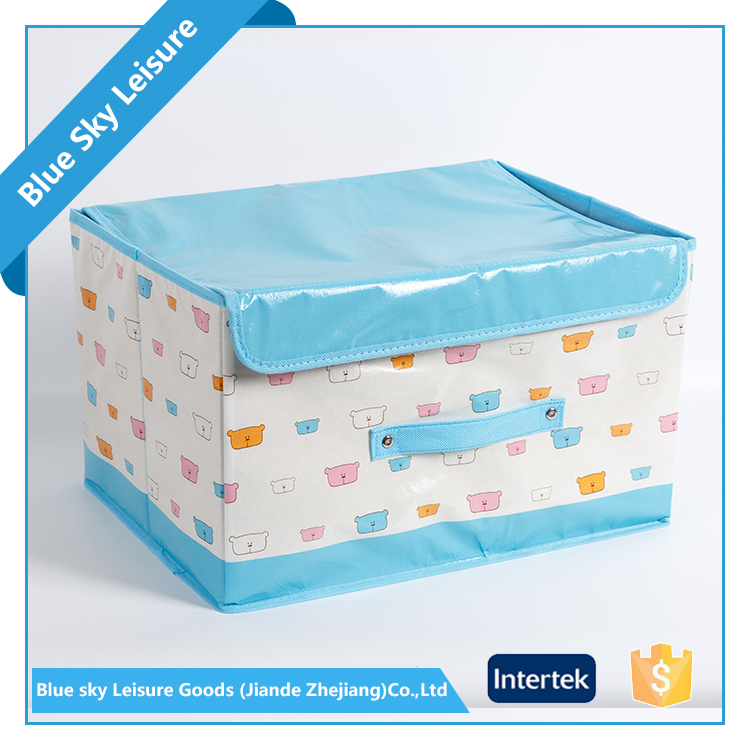 Custom Non Woven Fabric Children Collapsible Storage Bins