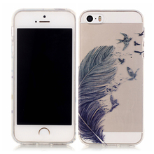 High quality soft cell phone case,IMD technology transparent TPU material protective case for iPhone 5S
