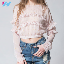Wholesale latest shirt for women ladys fashion casual long sleeve Big Size XL XXL Lose Top T-shirt