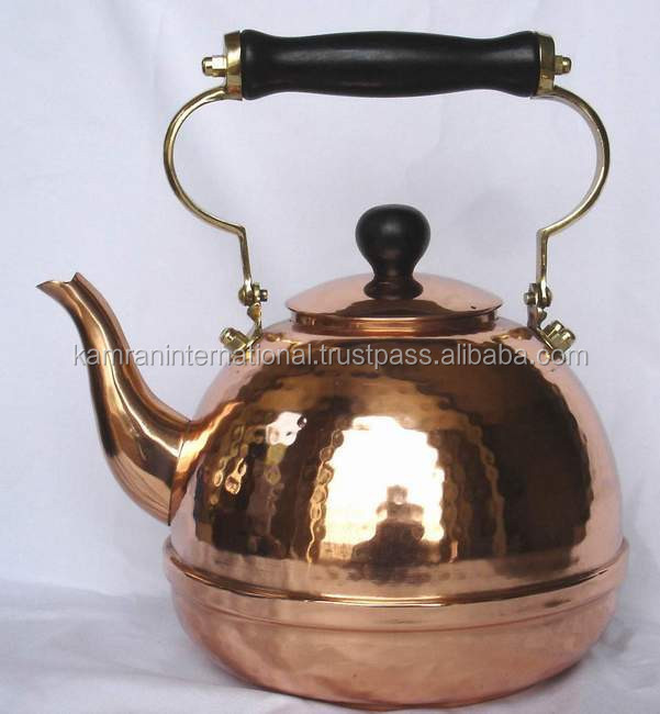 Hammered polished finish pure copper kettle for Cafe & Catering, Stovetop kettle, Hot water kettle