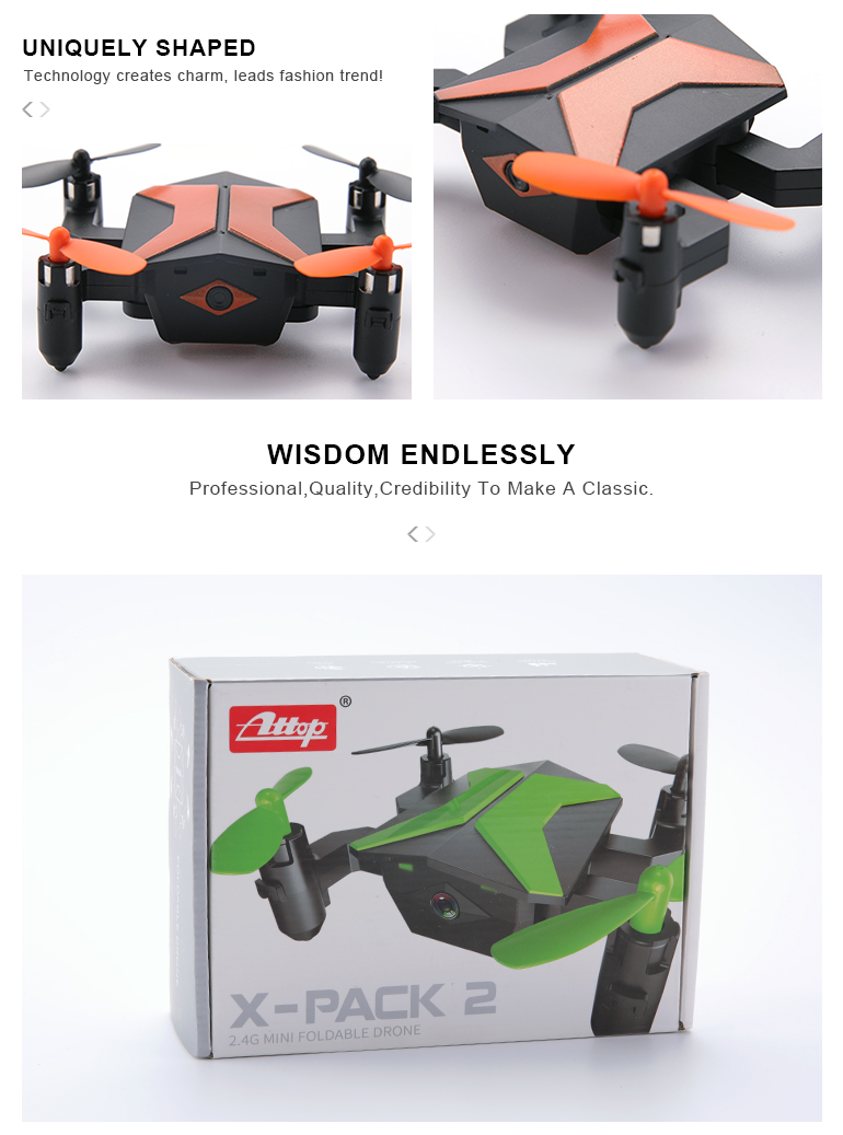 2.4G remote control foldable quadcopter best mini drone with camera