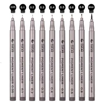 Black Micro-Pen Fineliner Pens, Black Pigment Liner Precision Micro Liner Drawing Pens for Sketching Drafting