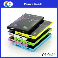 Slim Flat Card Mobile Power Bank 2200mAh Battery Charger For Samsung HTC LG