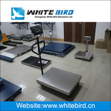 portable bench scale with two handle-bar, 4 wheels, 300kg, 600kg, SUS201 cover, epoxy painted painted mild steel