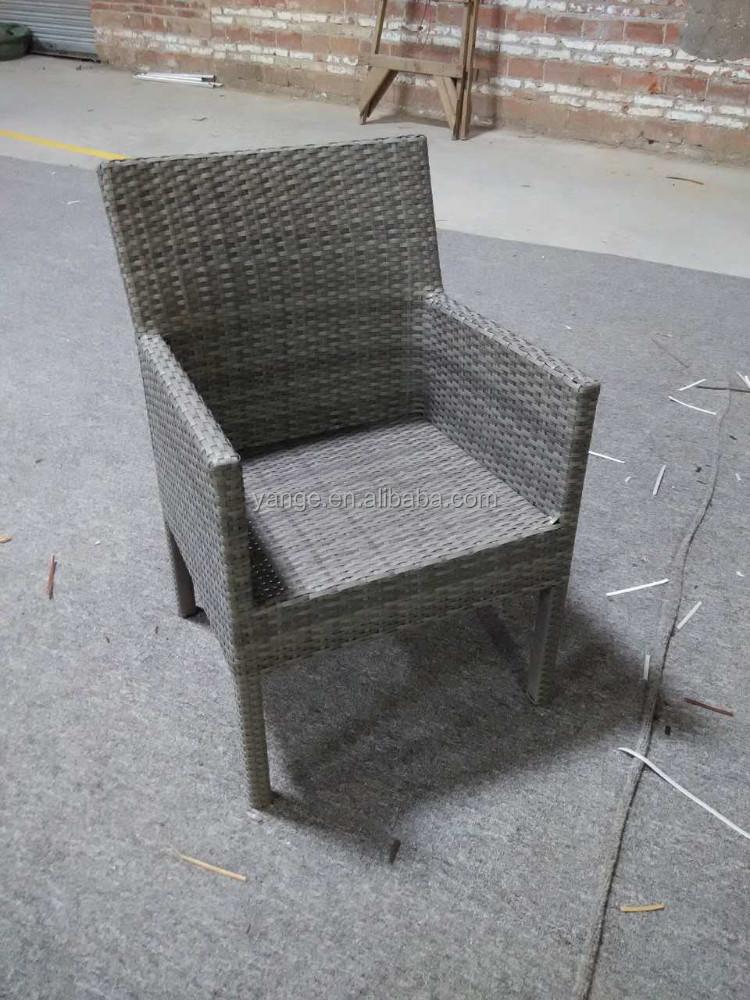 Patio sedia mezzo giro resina di vimini tessitura poltrona da pranzo ...
