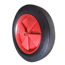 10*1.5 highy quality solid rubber wheels with plastic hub