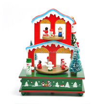 christmas tree wooden music box