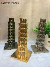 new design Gold,Silver&Bronze plated metal Leaning Tower of Pisa