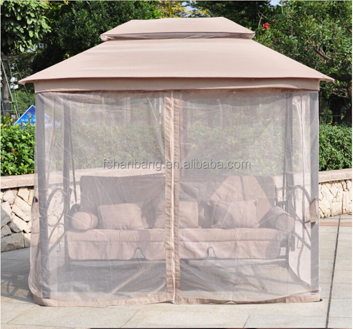 Luxury Two Function Three Seat Outdoor Gazebo Swing Chair
