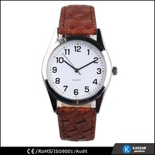 vintage leather watches quartz wrist watch for men