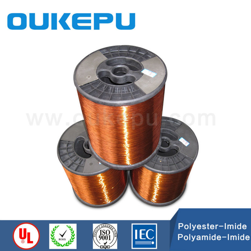 best quality grade220/200/180 oleo-resin enamelled wire,polyamide enamelled wire,enamel covered wire