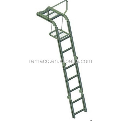 Hunting Equipment 15ft.Aluminum Folding Hunting Ladder Stand Hunting Tree Stand TS1342