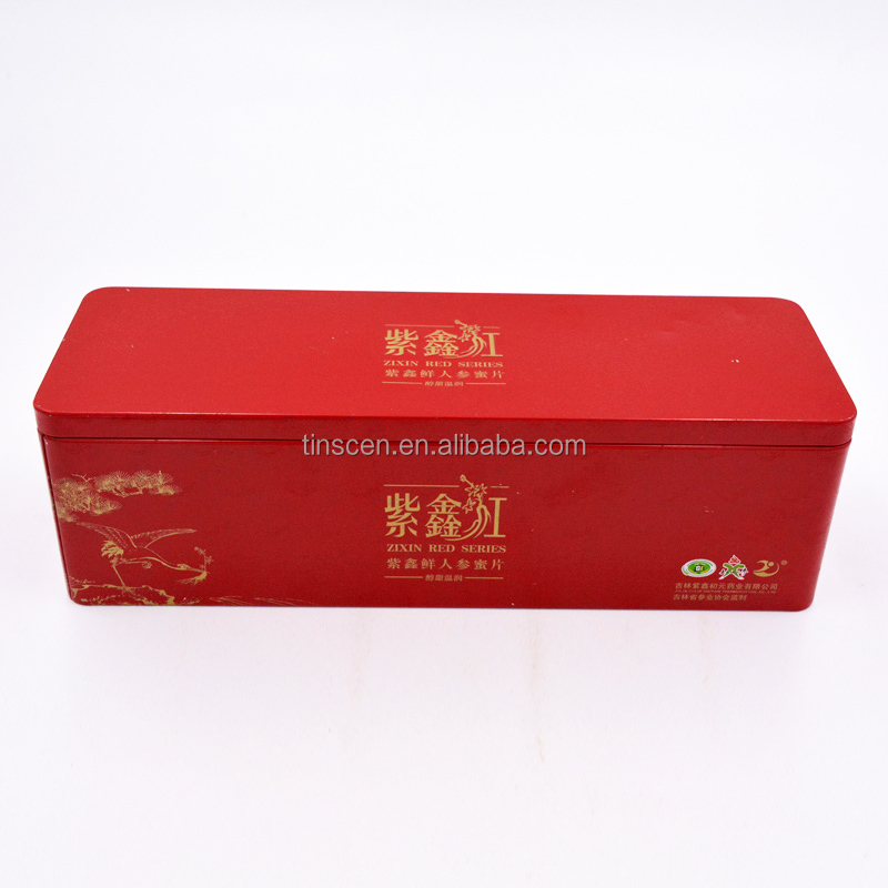 Factory direct manufactured high quality health care products package tin box