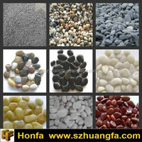 mixed colored pea gravel for landscaping