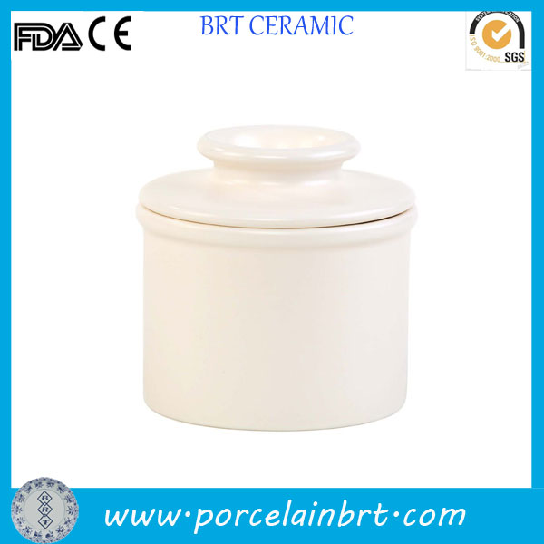 Nice colored high quality porcelain Butter Crock