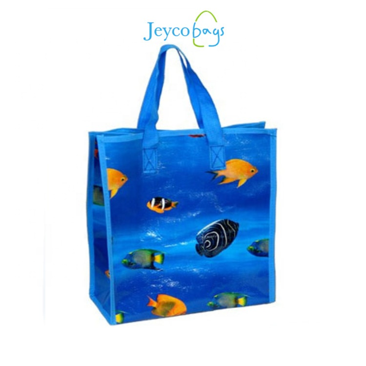 JEYCO BAGS Cheap100% PP custom OEM reusable wholesale laminated non woven bag with tote