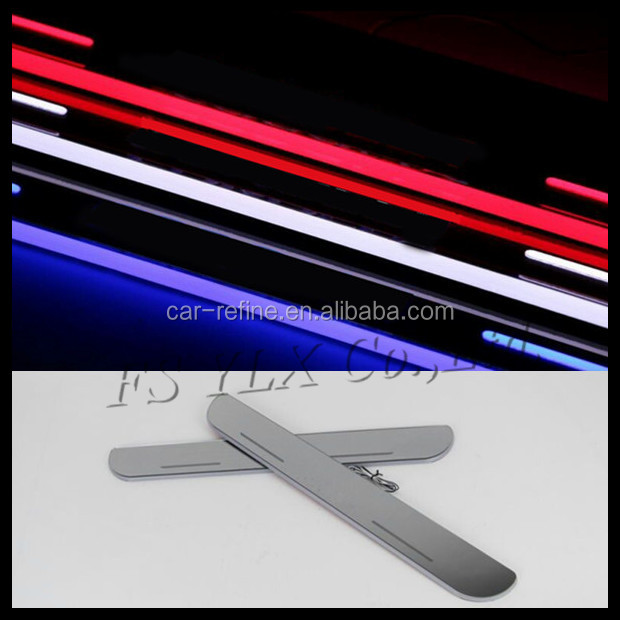 led car door sill moving led scuff plate for mazda 6 atenza/cx-5/mazda 3 axela