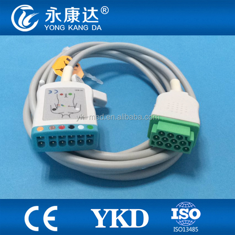 Compatible GE Multi-Link ECG Cable 3 or 5 Lead ESU (electro surgical unit) AAMI AHA 3.6M (12')