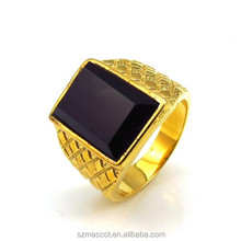 Black Stone gold plated indian Rings fake gold ring 18k