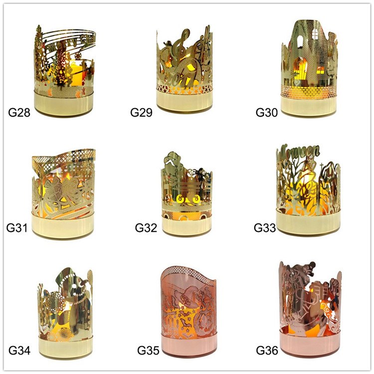 Cylinder luxury Glass wedding table centerpieces votive candle holders