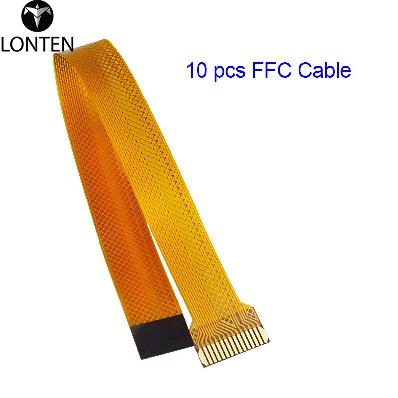 Lonten <strong>10</strong> pcs/lot Raspberry Pi Zero <strong>W</strong> Camera Cable 16 CM FFC Flexible Flat Cable Wire for Raspberry Pi Zero 1.3