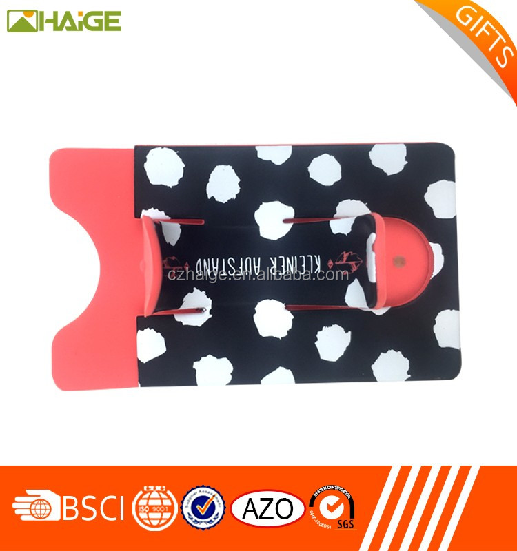 Custom Silicone Smart Phone Wallet / Phone Pouch / ID credit business Card Holder
